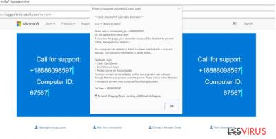Tech Support Scam virus