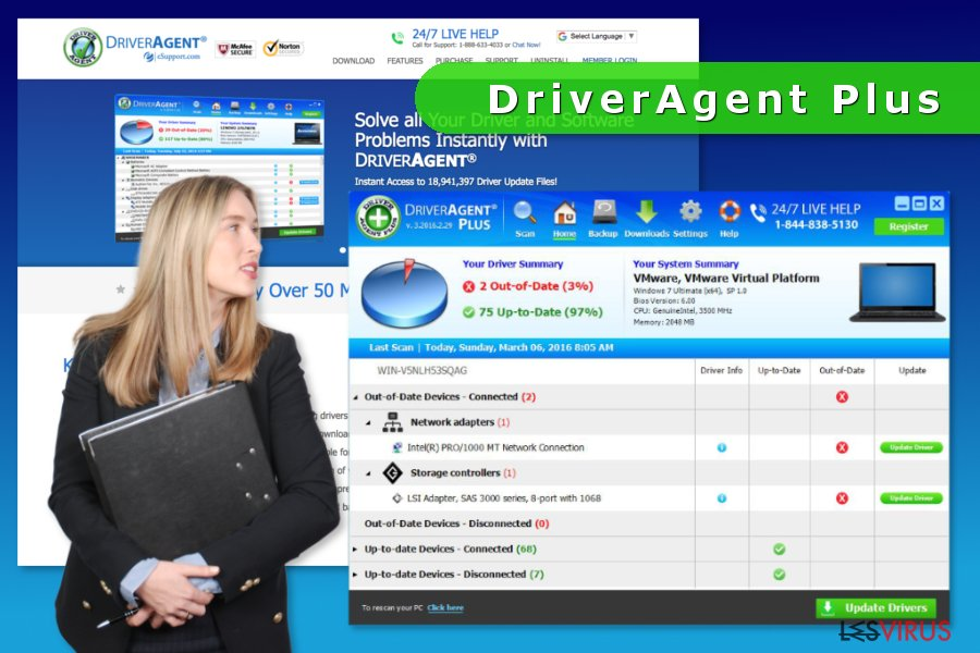 Screenshot von DriverAgent Plus