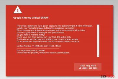 Screenshot Google Chrome Kritischer Fehler