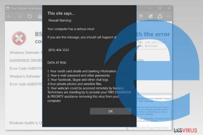 Screenshot Microsoft-Edge-Virus