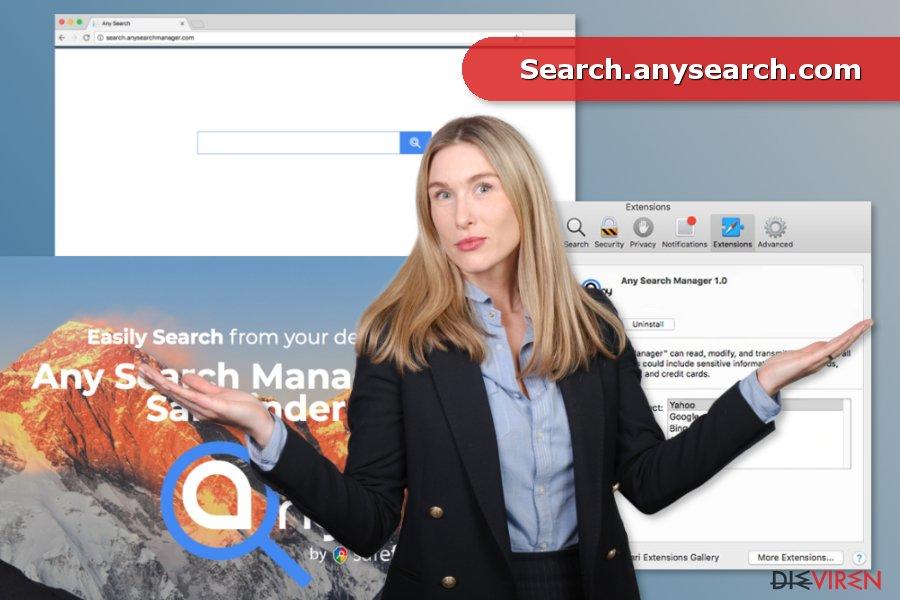 Bild von Search.anysearch.com-Virus