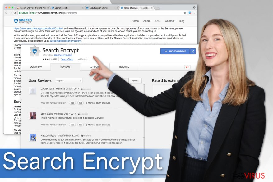 Illustration Search Encrypt
