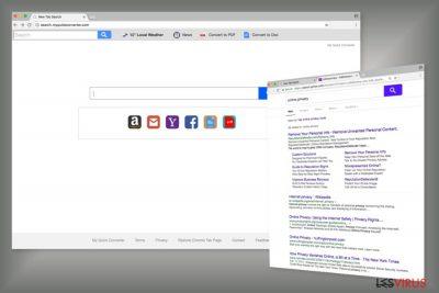 Beispiel für die Search.myquickconverter.com-Suchmaschine