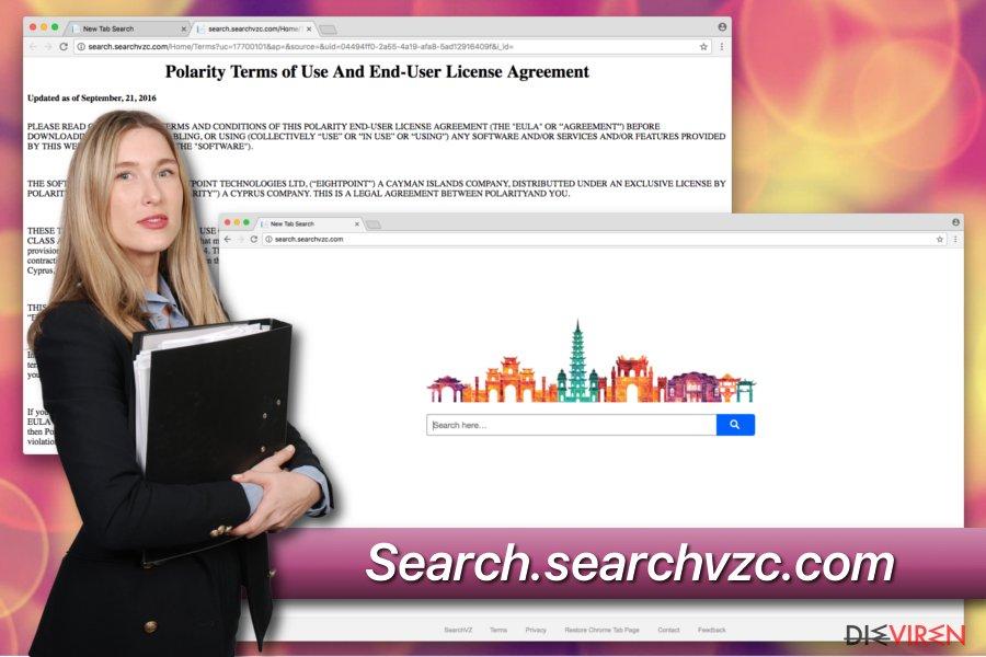 Unerwünschtes Programm Search.searchvzc.com