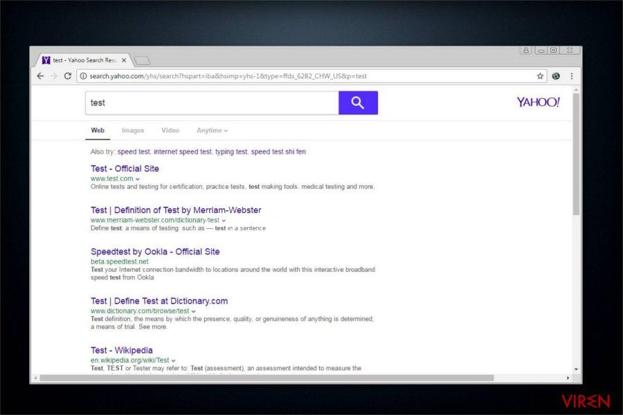 Potenziell unerwünschtes Programm Search.yahoo.com