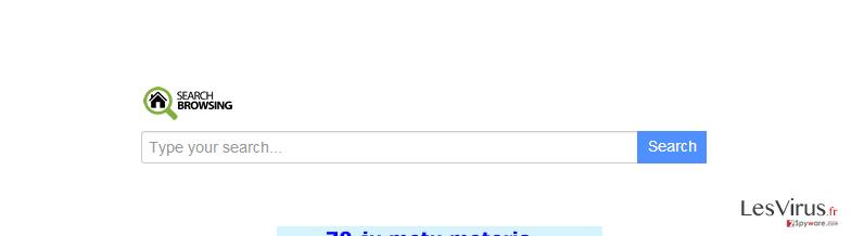 searchbrowsing.com redirect-Screenshot