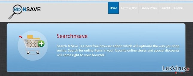 SearchNSave-Virus-Screenshot