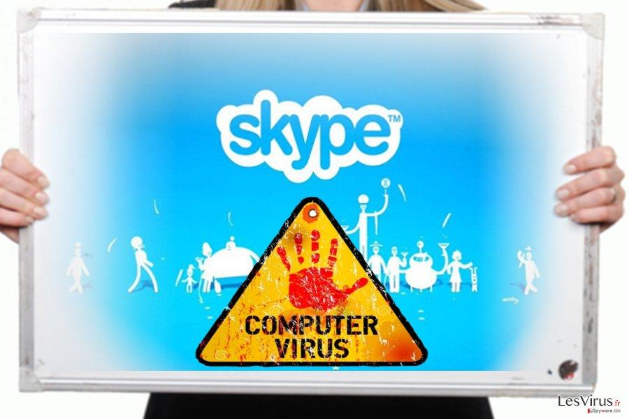 Das Bild des Skype-Virus
