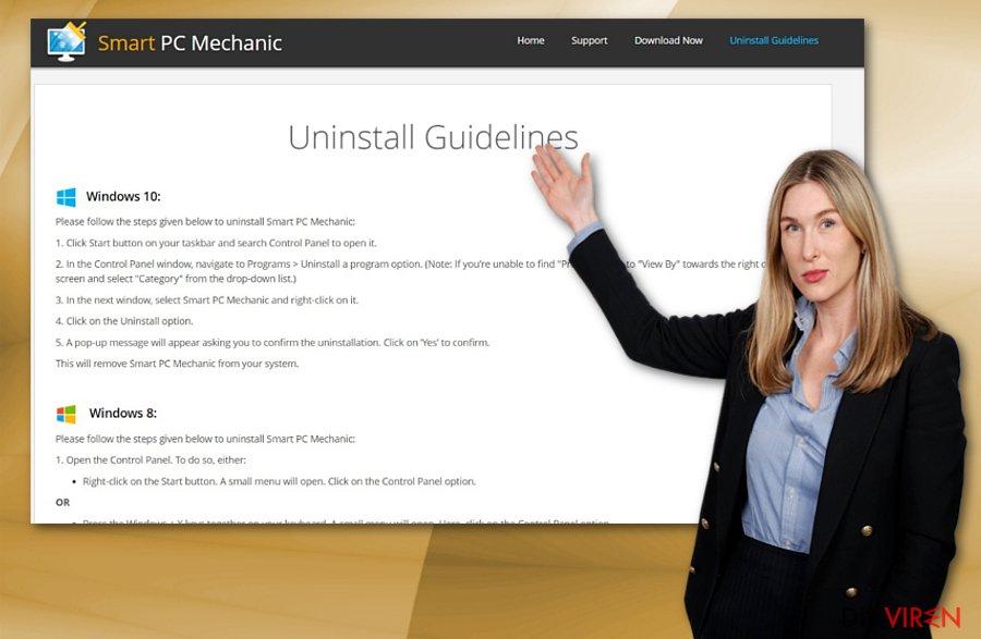 Deinstallationsanweisungen für Smart PC Mechanic