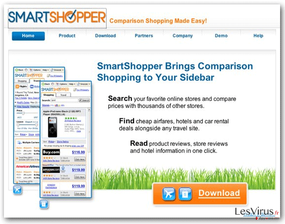 """Ads by SmartShopper""-Virus-Screenshot"