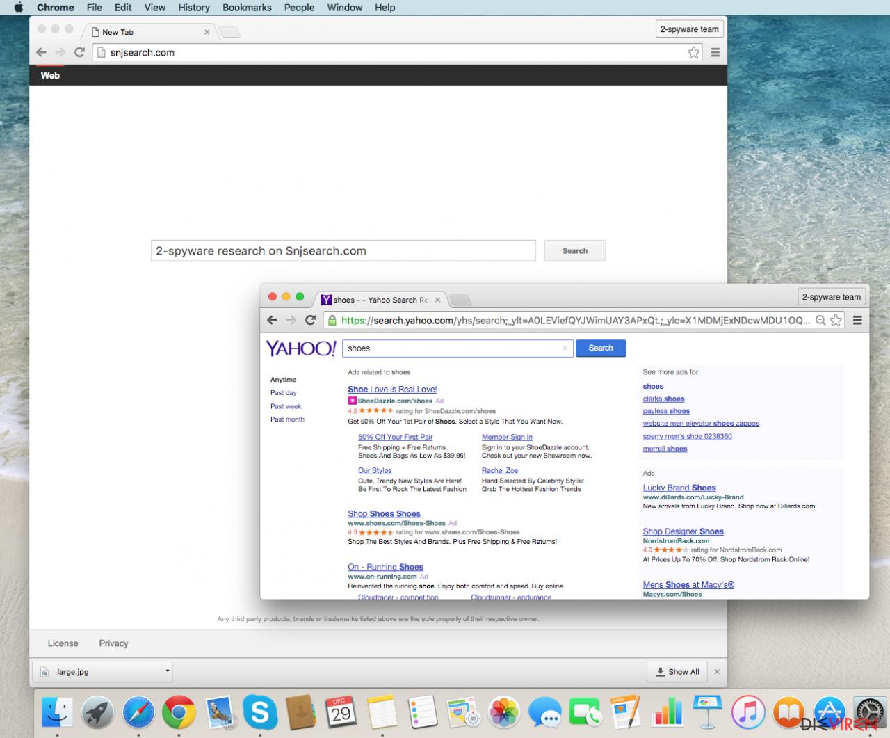 Snjsearch.com hijack screenshot