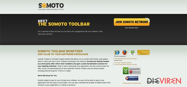 Somoto Toolbar-Screenshot