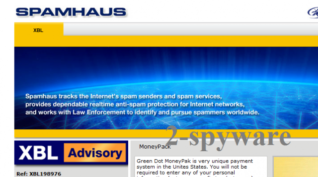 Spamhaus Virus-Screenshot