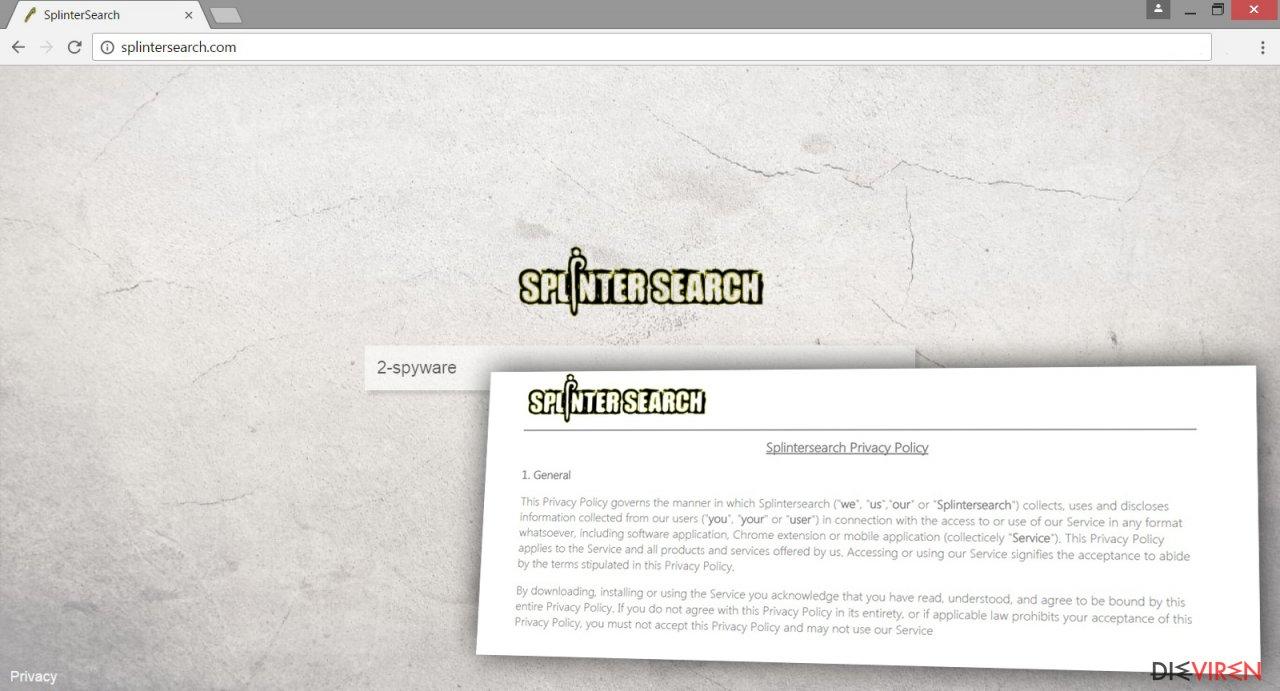 Image of Splintersearch.com virus