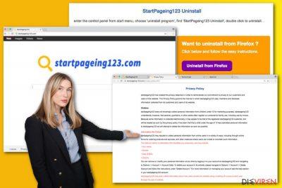 Abbildung StartPageing123.com-Virus
