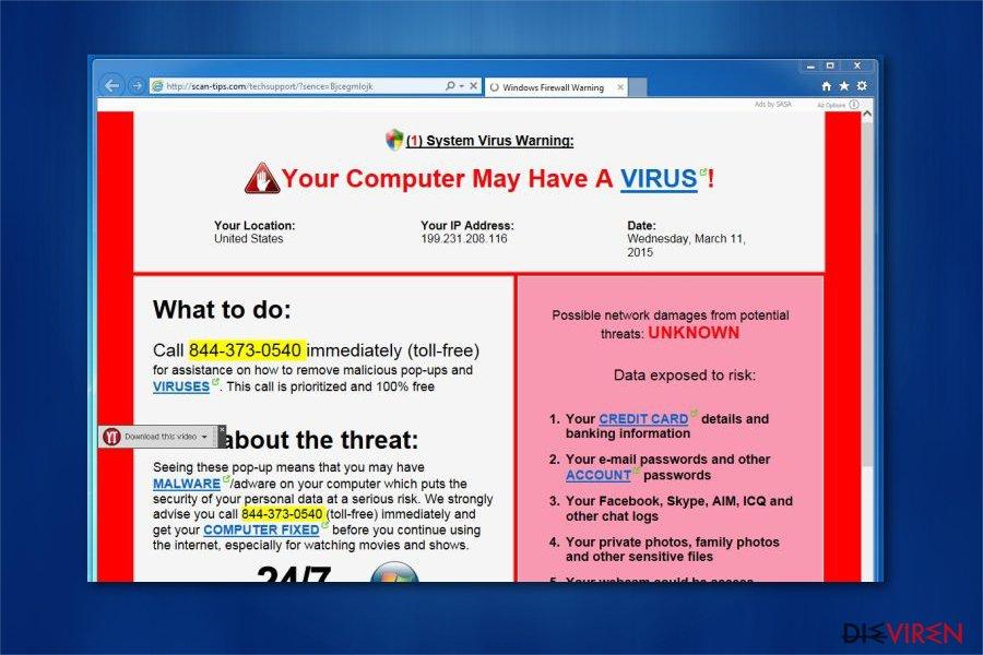Microsoft Warnung Computer Gesperrt