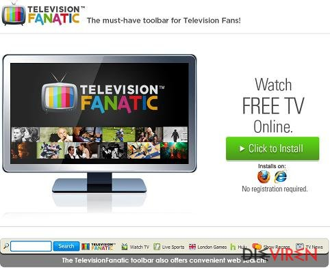 Television Fanatic Toolbar-Screenshot