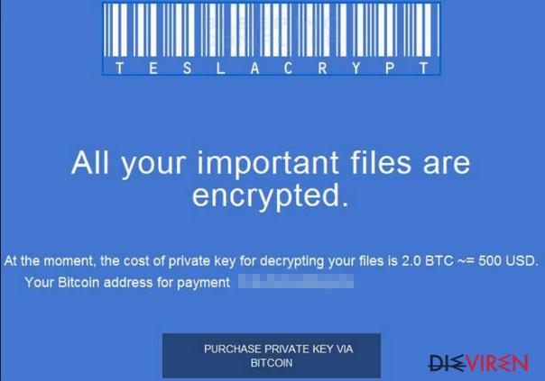 TeslaCrypt 2.0-Screenshot