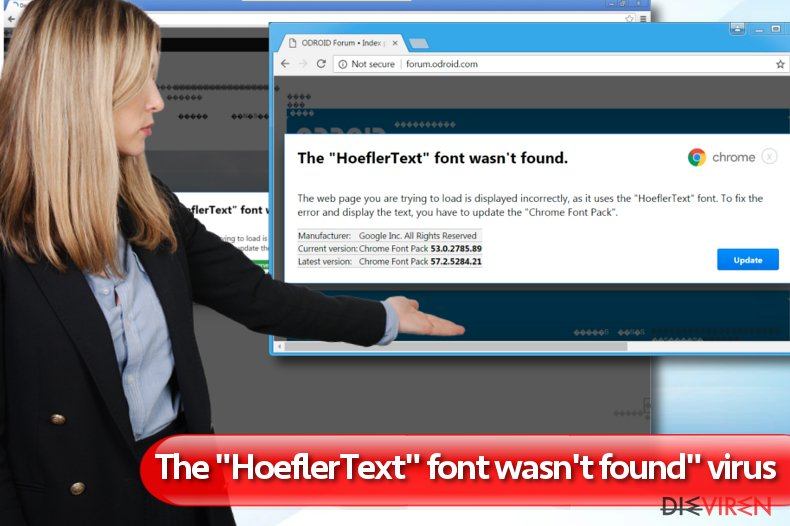 """The HoeflerText font wasn't found""-Screenshot"