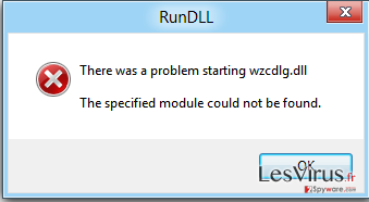 The specified module could not be found-Screenshot