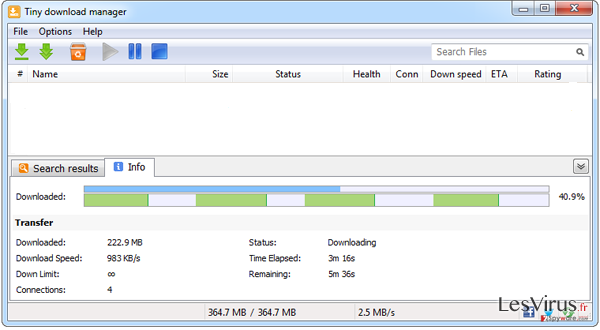 Tiny download manager-Screenshot