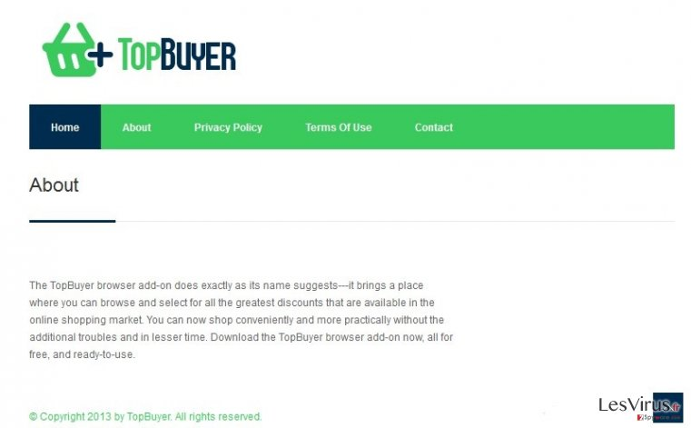 TopBuyer-Virus-Screenshot