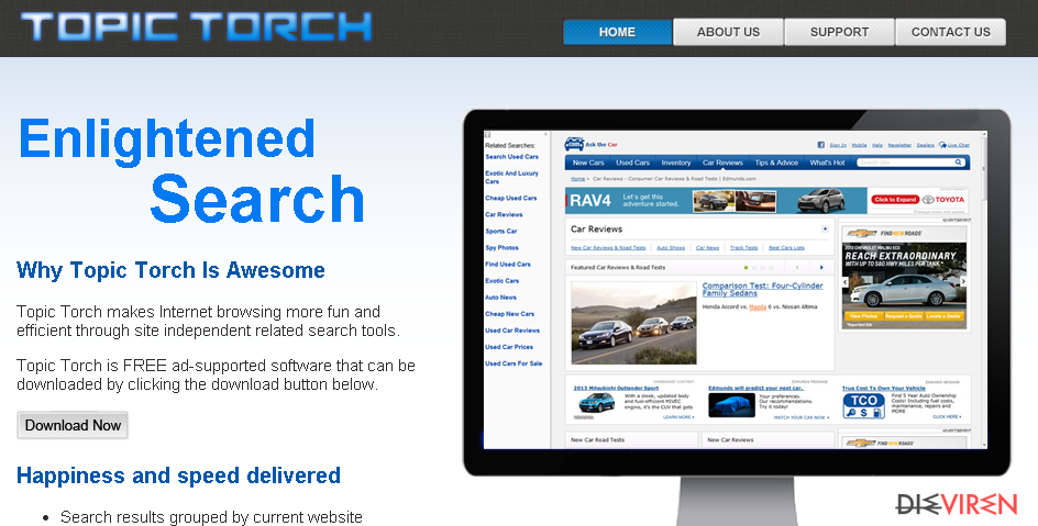 Topic Torch-Screenshot