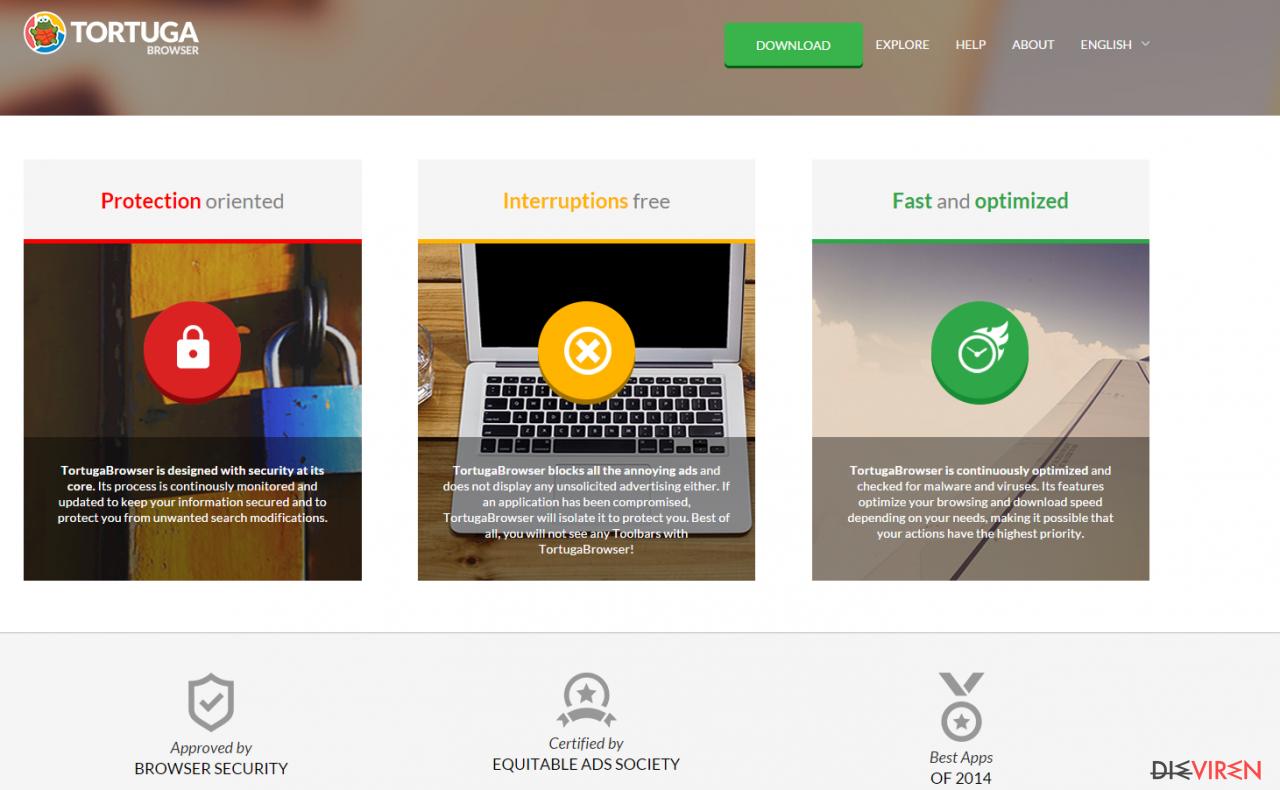 Tortuga Browser-Screenshot