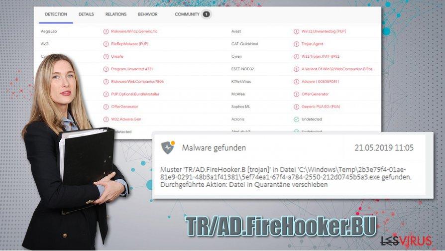 Der Virus TR/AD.FireHooker.BU