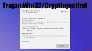 Trojan:Win32/CryptInject!ml