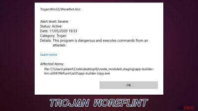 Der Trojaner Woreflint