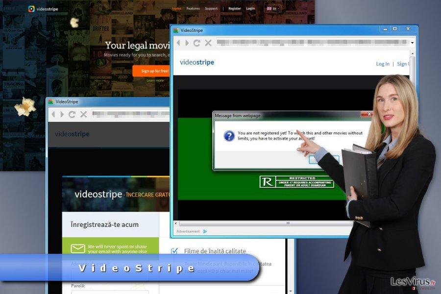 Beispiel VideoStripe-Pop-up-Anzeigen