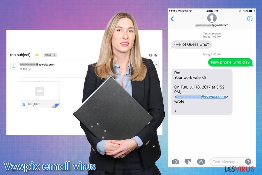 Der E-Mail-Scam Vzwpix