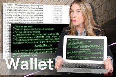 Abbildung vom Erpressungsprogramm Wallet