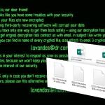 Wallet-Erpressersoftware-Screenshot