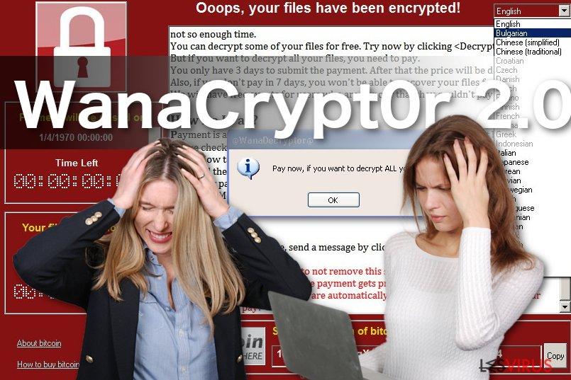 Abbildung Erpressungsprogramm WanaCrypt0r 2.0