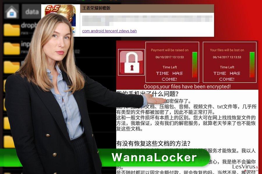 Bild WannaLocker-Erpressungsprogramm