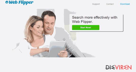 Anzeigen von Web Flipper-Screenshot