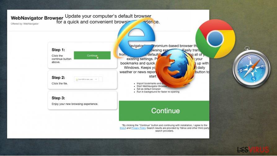 Der Hijacker WebNavigatorBrowser