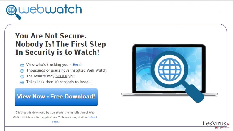 Anzeigen von Web Watch-Screenshot