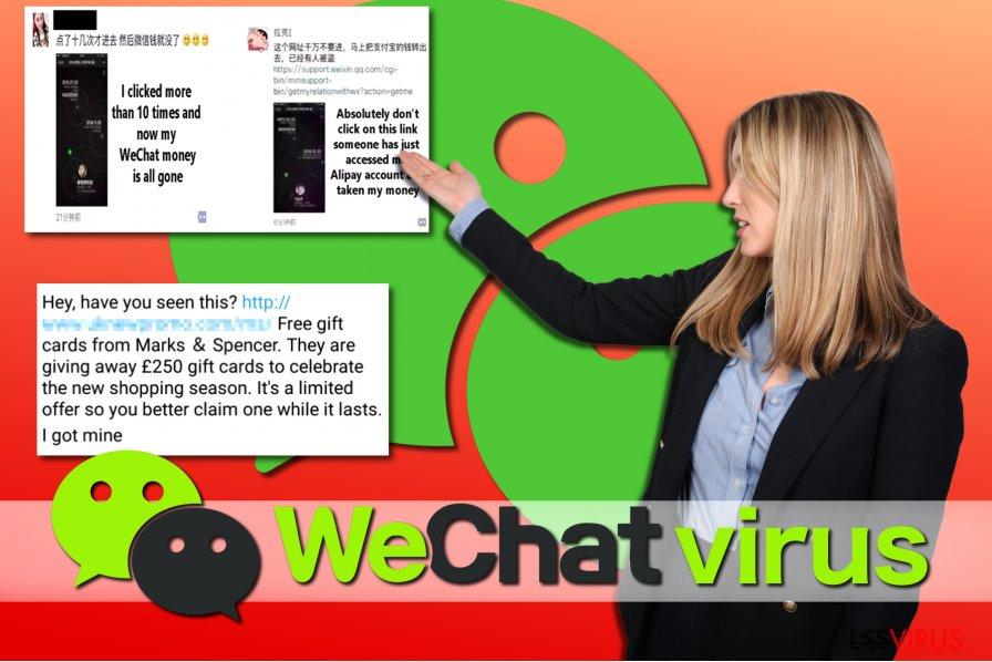 Beispiele WeChat-Viren