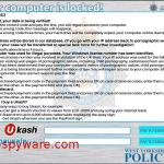 West Yorkshire Police Ukash-Screenshot