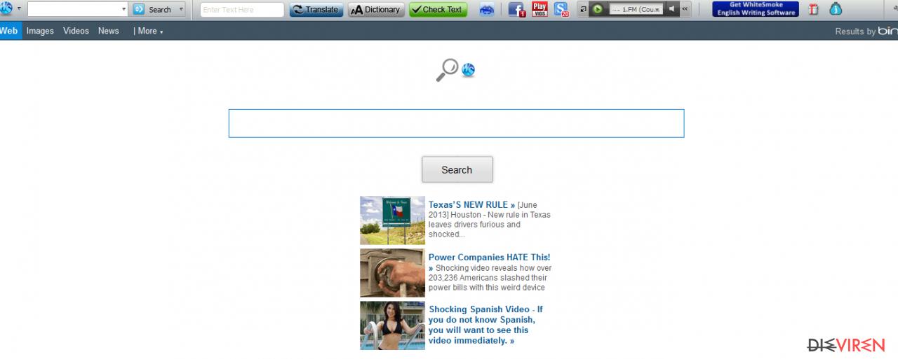Whitesmoke virus-Screenshot