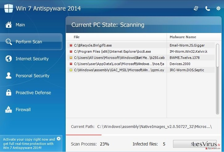 Win 7 Antispyware 2014-Screenshot