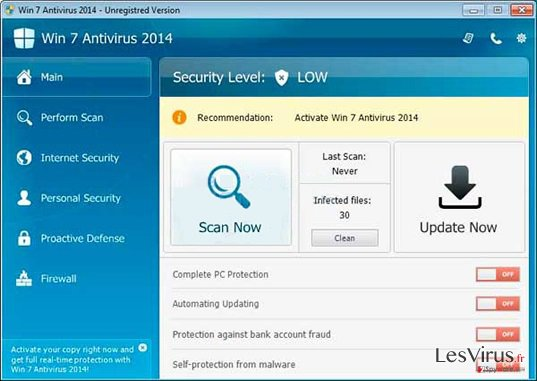 Win 7 Antivirus 2014-Screenshot