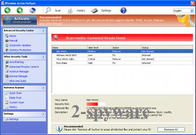 Windows Active HotSpot-Screenshot