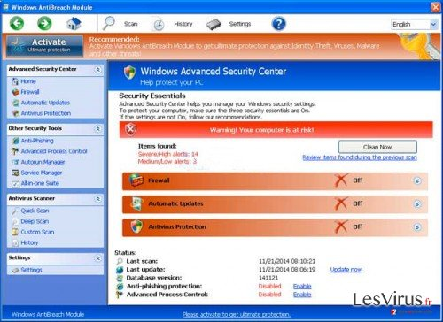 Windows AntiBreach Module-Screenshot