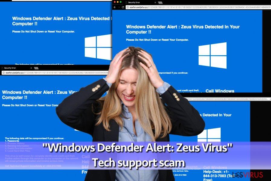 """Windows Defender Alert: Zeus Virus""-Supportvirus"