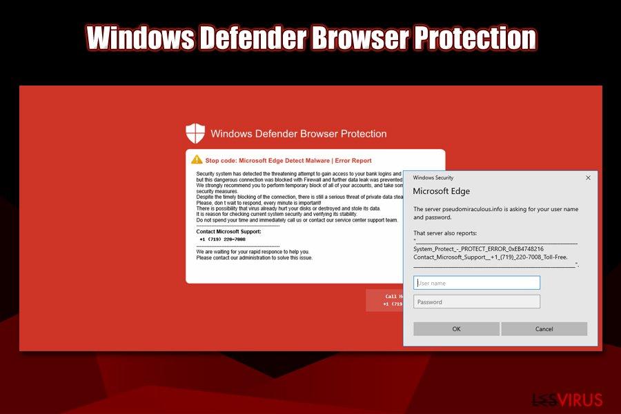 Der rote Bildschirm von Windows Defender Browser Protection