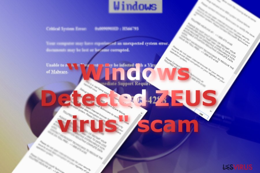 """Windows Detected ZEUS Virus"" Tech support scam"